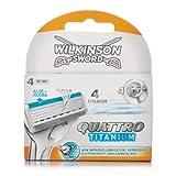 Wilkinson Sword Quattro Titanium Razor Blades 4 Pack