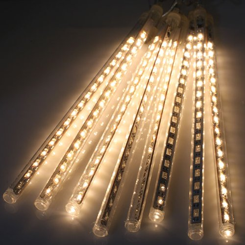 AGPtek® 30cm 144 LED 8 Tube Warm white Holiday