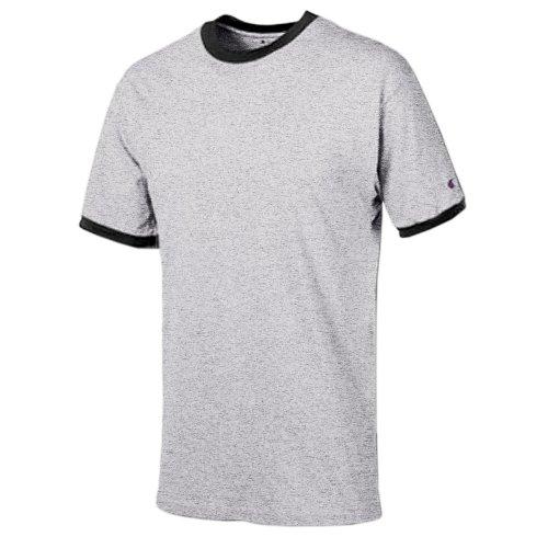Champion Ringer T-Shirt_Oxford Gray/Black_S