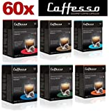 60 x Nespresso Compatible Coffee Capsules / Pods Espresso - 6 Different Blends