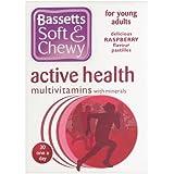 Bassett's Soft & Chewy Active Health Multivitamins - Raspberry Flavour 30 Pastilles