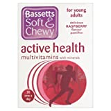 Bassett's Soft & Chewy Active Health Multivitamins - Raspberry Flavour 30 Pastilles