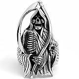 """Bague Acier De La Grande Faucheuse """" Grim Reaper"""" Taille 59..."""