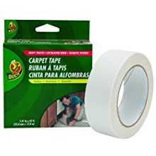 Duck Brand 442060 Heavy Traffic Carpet Tape, 1.41-Inch by 42 Feet, Single Roll