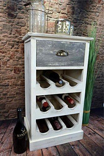 Weinregal-Weinschrank-Flaschenregal-Kommode-Siedeboard-Anrichte-Holz-Landhaus-Shabby-Chic-Vintage-LV1080A