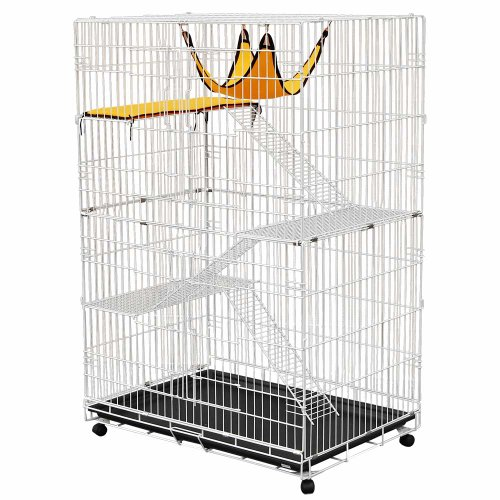 Large Metal Pet Crate Cat Cage Kennel Hammock