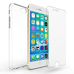 iPhone 6s Plus Case, Premium iPhone 6 Plus Clear Case Bumper [Scratch Resistant] Shock-Absorbing Cover with 1pcs 0.15mm Hd Screen Protector - 3D Touch Compatible] for Iphone 6 Plus / 6s Plus 5.5