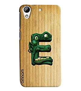 Omnam Single Name Stylish Alphabet E Printed Designer Back Cover Case For HTC Desire 626