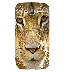 ColourCraft Lion Look Design Back Case Cover for SAMSUNG GALAXY GRAND Z I9082Z