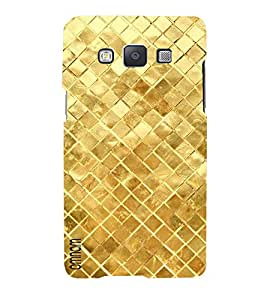 Omnam Golden Square Printed With Effect Designer Back Cover Case For Samsung Galaxy A5