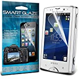 Smart Glaze® Crystal Clear Premium LCD Screen Protectors Packs With Polishing Cloth & Application Card For Sony Ericsson Xperia Mini Pro.j Pack Of 10