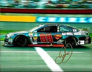 Signed Earnhardt Jr. Photo - 2014 SUPERMAN DC COMICS NATIONAL GUARD 8x10 #1 - Autographed Photos