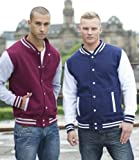 Just Hoods by AWDis Varsity Letterman College Jacket Oxford Navy/Heather S