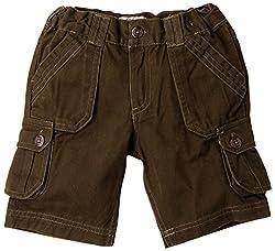 Oye Boys Cargo Shorts - Dark Brown (2-3Y)