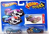Hot Wheels - Colour Shifters - 2 Pack Vehicle Set - Skull Crusher & Tomb Up with Lenticular Card - V1059