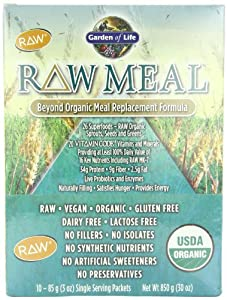 Garden of Life Raw Organic Meal Packets, 10 Count Tray