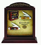 Case Cutlery 11385 Case Copperhead Collector's Set Amber Bone and Genuine Stag Handle Knives