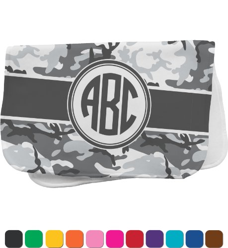 Camo Personalized Burp Pad front-976149