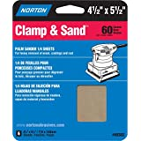 "Norton Clamp & Sand Abrasive Sheet, Aluminum Oxide, 5-1/2"" Length x 4-1/2"" Width (Pack of 6)"