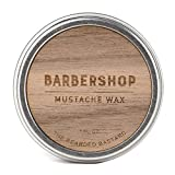 Barbershop Mustache Wax by The Bearded Bastard - Natural Mustache Wax (1 oz)