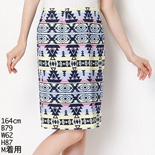 グレイマジック(GRAY MAGIC) スカート(Cネイティブ柄Ptタイトスカート)【ブルー/M】