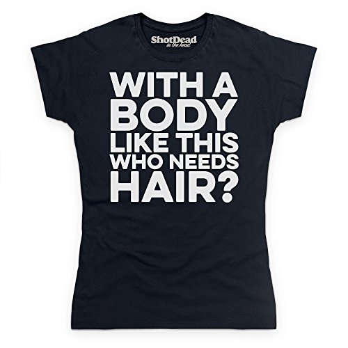Who Needs Hair T-shirt, Donna, Nero, 2XL
