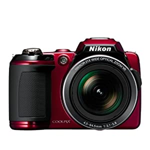 Nikon Coolpix L120 Digital Camera with 21x Optical Zoom (Red)