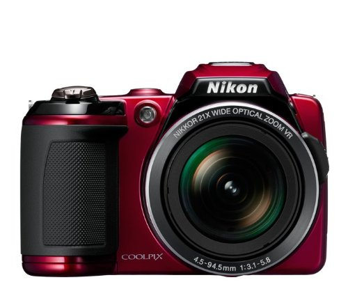Nikon COOLPIX L120 14.1 MP Digital Camera with 21x NIKKOR Wide-Angle Optical Zoom Lens and 3-Inch LCD (Red)