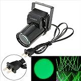 Lixada AC 90-240V 15W Mini LED ステージライト 単色ビーム ピンスポットスポットライト効果 ディスコ / 舞台 / 演出 / 照明