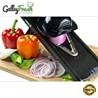 GalleyFresh Professional V-Slicer - Mandoline Slicer, 7 Piece Set - Food, Fruit & Vegetable Cutter - Extremely Sharp Stainless Steel Blades, Giant Safety Guard Included, Durable ABS Plastic Body, And Slip Resistant Rubber Feet For Stabilization.