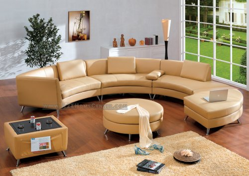 Cheap discount round leather ottoman online for Cheap modern furniture amazon