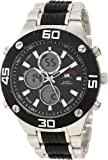 U.S. Polo Assn. Classic Mens US8532 Silver-tone and Black Analog Digital Watch