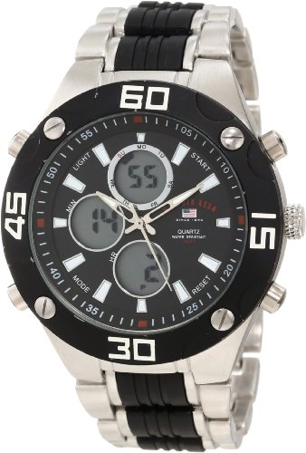 U.S. Polo Assn. Classic Men's US8532 Silver-tone