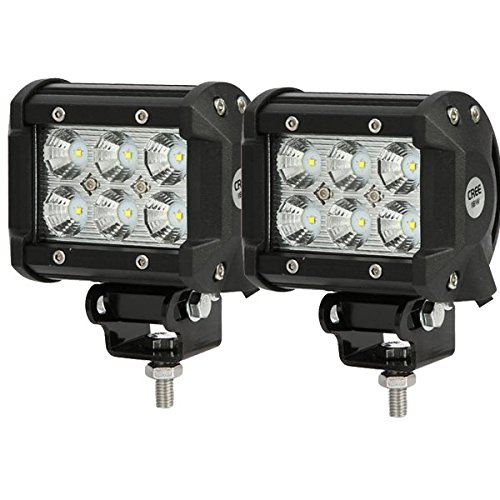 """2Pcs 4"""" 18W Cree Led Work Light Bar Flood Beam 60 Degree Waterproof For Off-Road Truck Car Atv Suv Jeep Boat 4Wd Atv Auxiliary Driving Lamp"""
