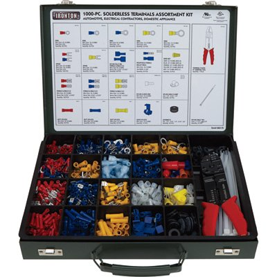 Ironton Solderless Electrical Terminal Kit - 1,000 Pcs. (Wire Terminal Kit compare prices)