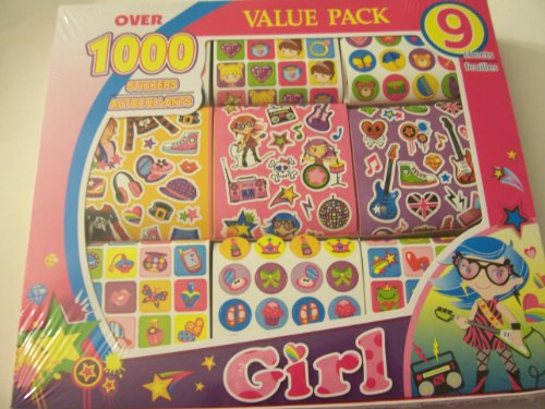 Value Pack Stickers ~ Girl Fashion & Rock Stars (Over 1000 Stickers) - 1