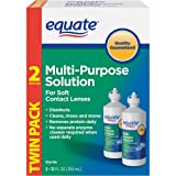 Equate – Multi-Purpose Contact Lenses Solution – 2-Pack 12 oz Each
