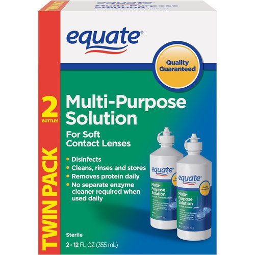 Equate - Multi-Purpose Contact Lenses Solution - 2-Pack 12 Oz Each