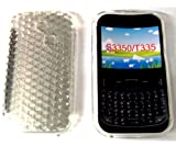 For Samsung Ch@t 335 T335 S3350 Diamond Patterned Protective Silicone Gel Case Cover Pouch TPU. (Crystal Clear)