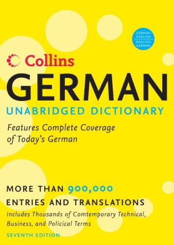 Collins German Unabridged Dictionary, 7th Edition...
