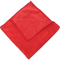 Zwipes Red Premium Microfiber Commercial Cleaning Cloths (16 in. x 16 in.), Pack of 12
