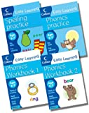 Harper Collins Collins Easy Learning Age 5-7 Phonics Collection - 4 Books RRP £15.96 (Phonics Age 5-7; Phonics Workbook 1 Age 5-7; Phonics Workbook 2 Age 5-7; Spelling Practice Age 5-7)