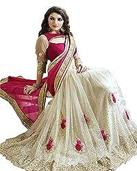 Rewa enter prises white fashionable saree
