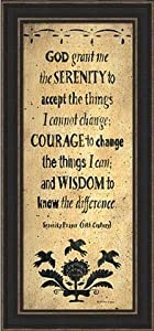 The Serenity Prayer-Sign-Primitive-Framed Art Print