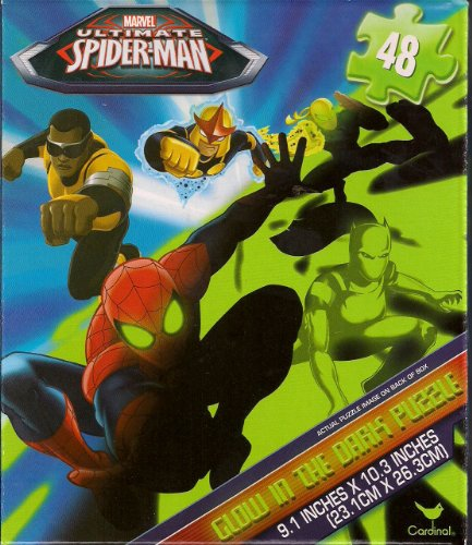 Marvel Ultimate Spider-man Glow in the Dark Puzzle by Cardinal