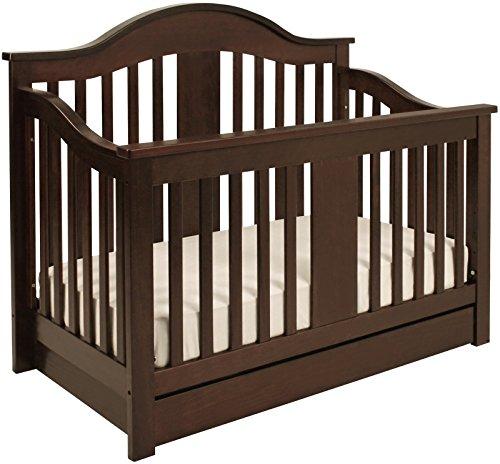 Million Dollar Baby Classic Cameron 4-In-1 Convertible Crib, Espresso front-212150