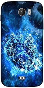 Snoogg Shattered Clock 2693 Designer Protective Back Case Cover For Micromax A110