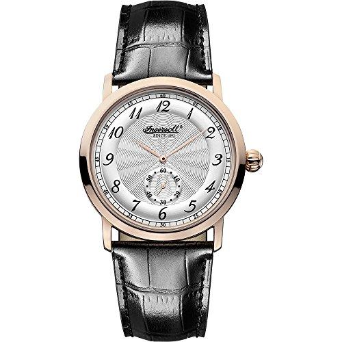 Ingersoll INQ 003 SLRS - Reloj para hombres, correa de cuero color negro