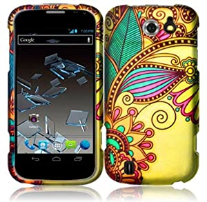ZTE Flash N9500 ( Sprint ) Phone Case Accessory Royal Flower Hard Snap On Cover with Free Gift Aplus Pouch