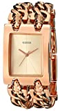 GUESS Women's U0073L2 Brilliance on Links Rose Gold-Tone Bracelet Watch